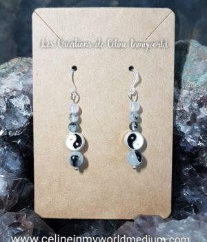 Boucles d'oreilles yin et yang