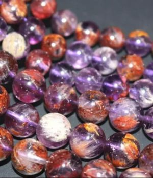 Améthyste à inclusions de Goethite (Cacoxénite ou Super Seven)