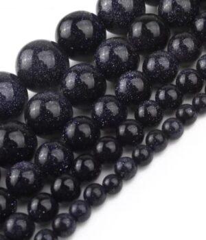Pierre de nuit - Goldstone Bleue (Quartz - Silice avec poudre de Cobalt)