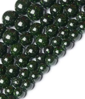 Pierre de sable - Goldstone Verte (Quartz - Silice avec poudre d'Oxyde de Chrome)