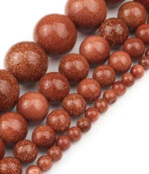 Pierre de soleil - Goldstone Rouge (Quartz - Silice avec poudre de Cuivre)