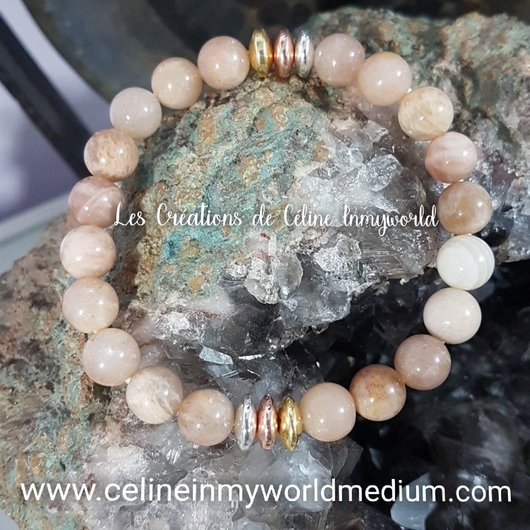 Bracelet en Héliolite (la vraie Pierre de Soleil)