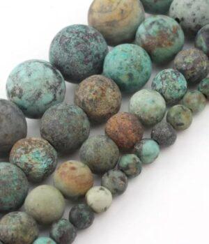 Turquoise Africaine - Jaspe (mate)