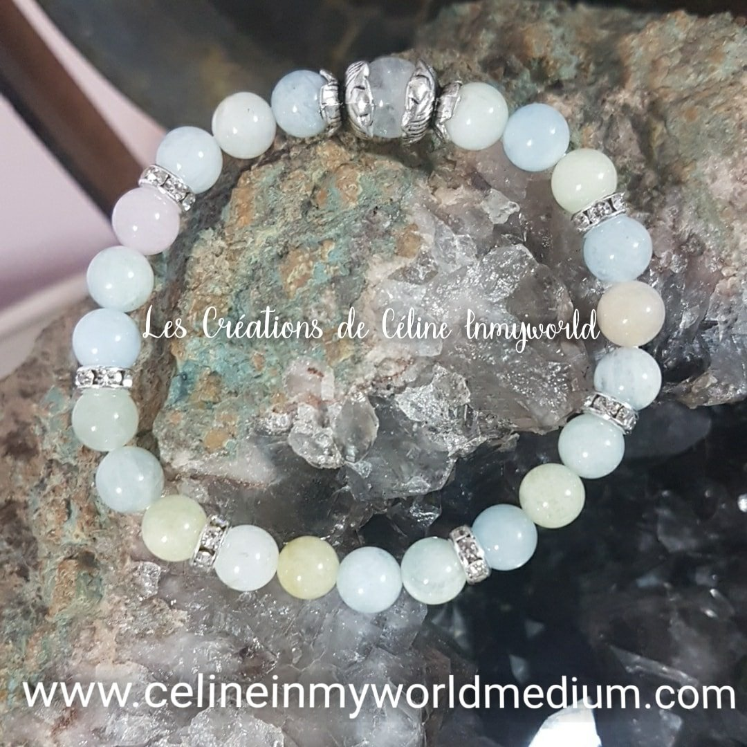 Bracelet anti-stress en Morganite
