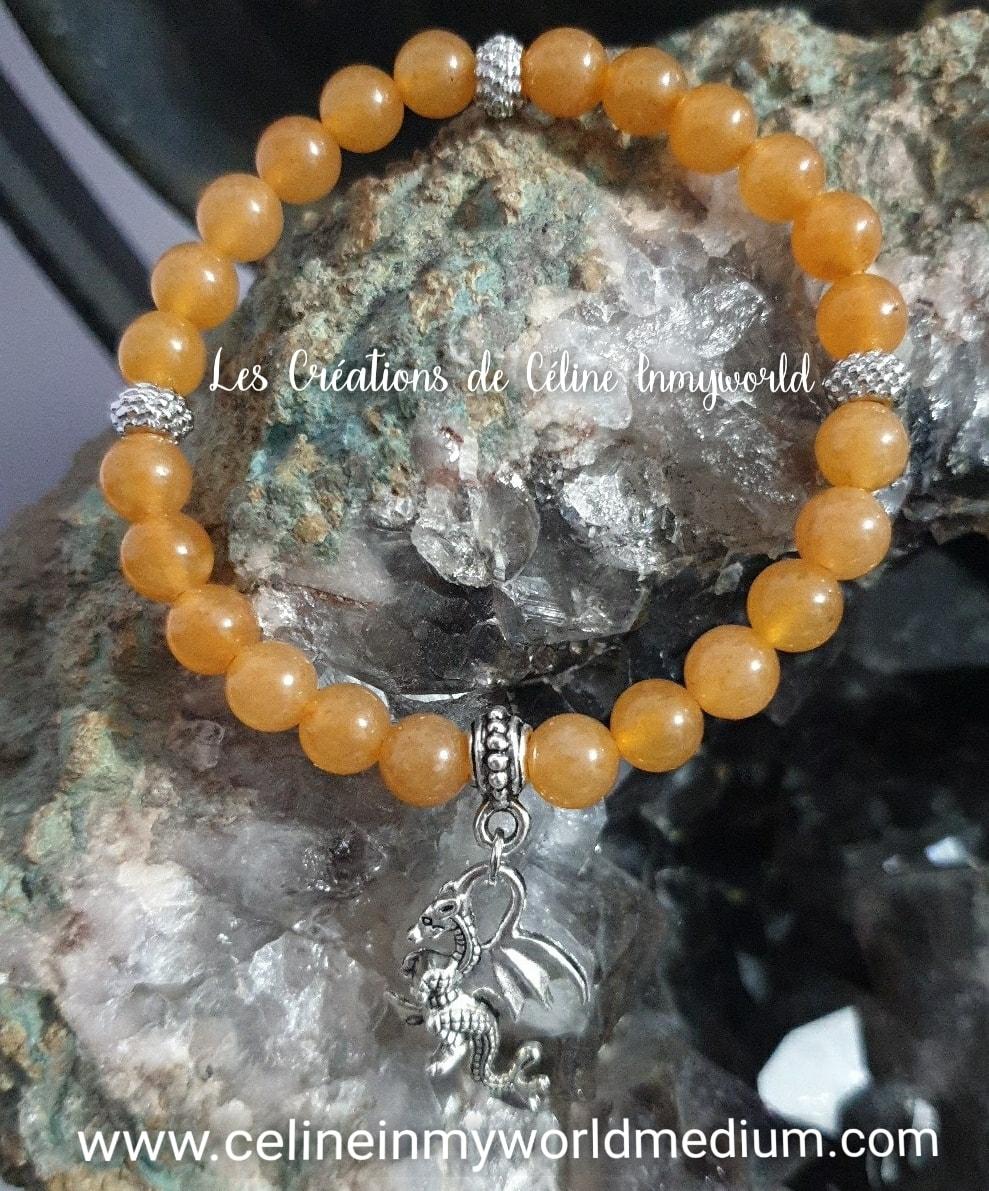 Bracelet Dragon en Aventurine orange