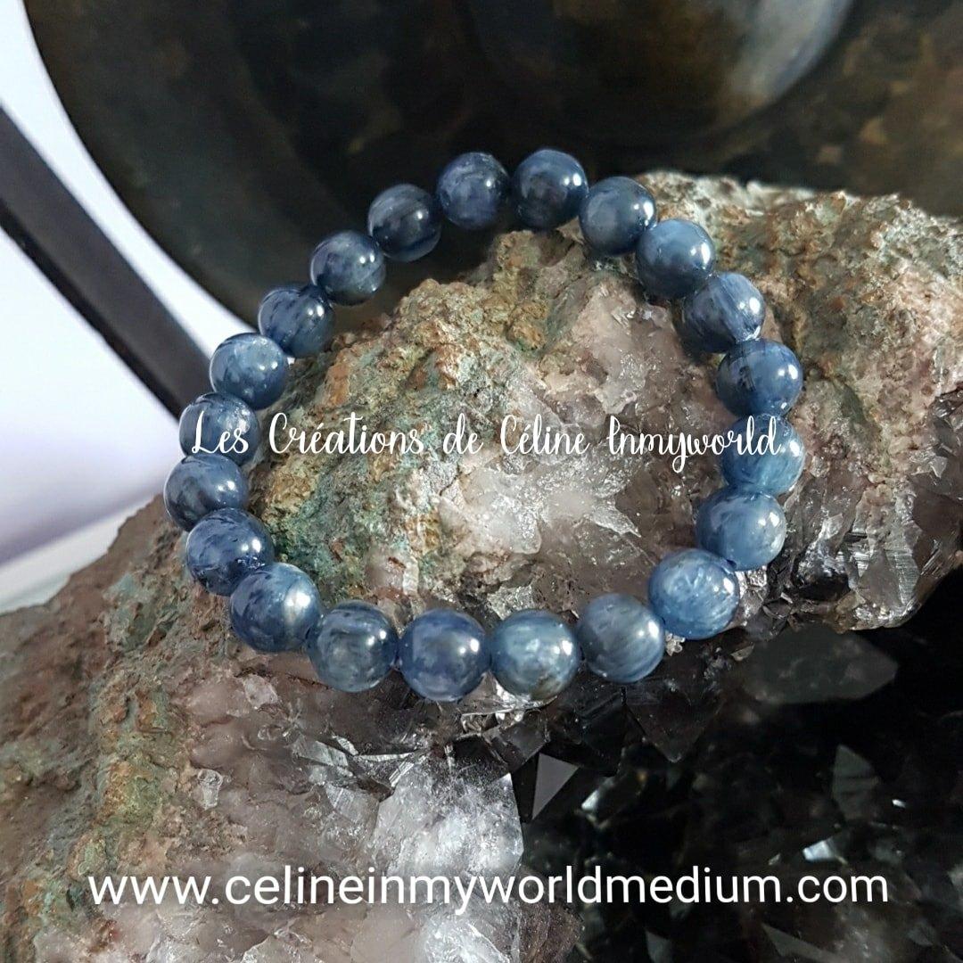 Bracelet en Cyanite (kyanite ou Disthène bleu)