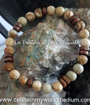 Bracelet en Jaspe Kalahari (mat)