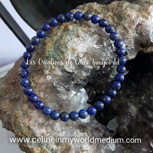 Bracelet en Lapis Lazuli pour développer ses capacités médiumniques et pour la thyroïde