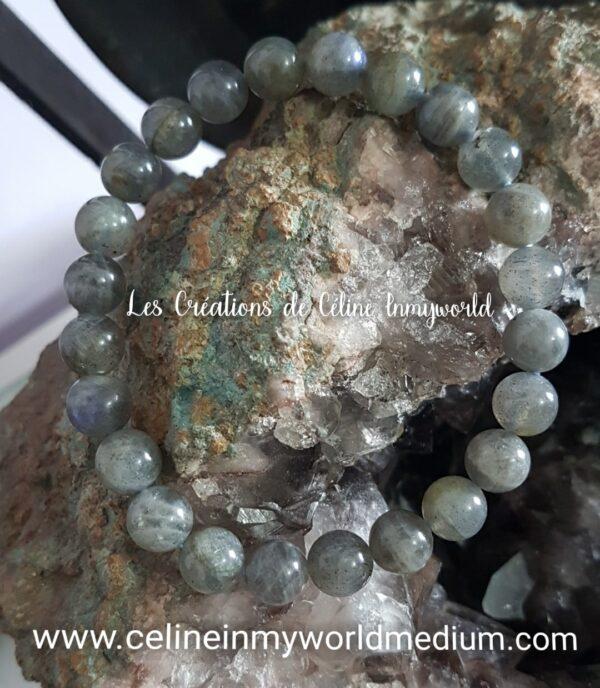 Bracelet de protection en Labradorite Spectrolite