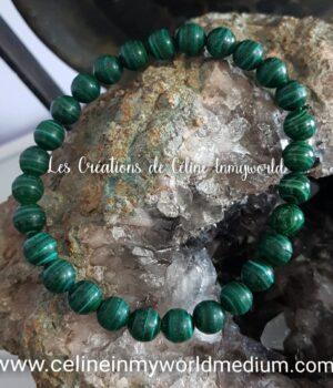 Bracelet en Malachite pour le chakra du cœur