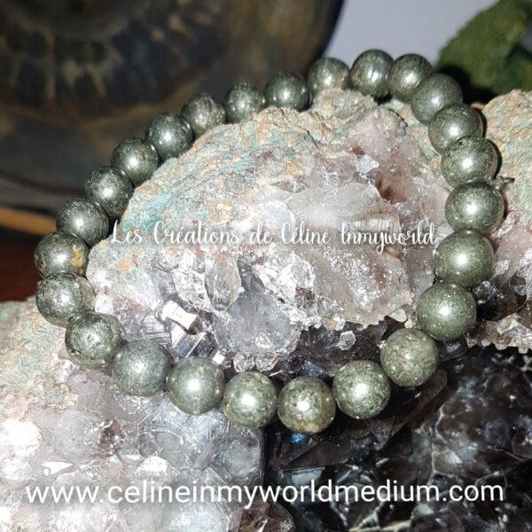 Bracelet pour la connaissance de soi, en Pyrite