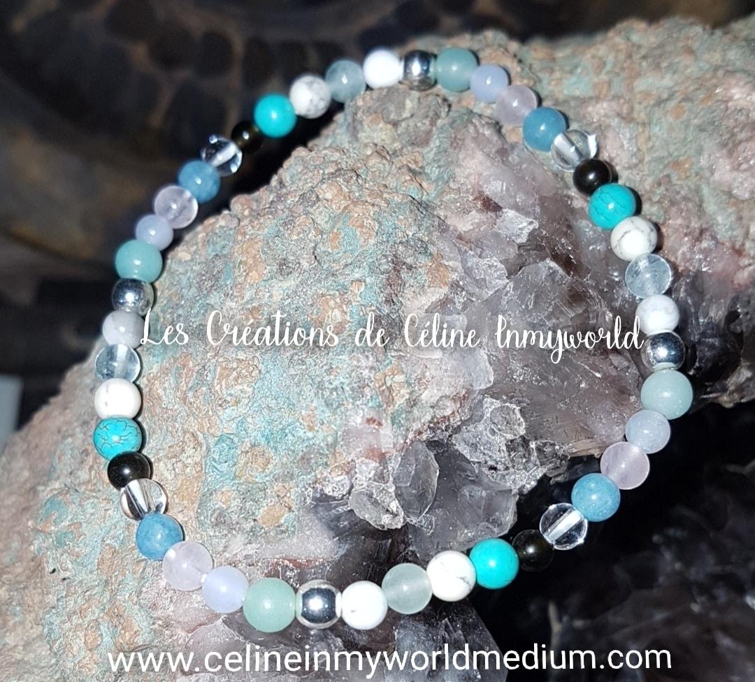 Bracelet Chemin de vie (personnalisé) en Hématite plaquée argenté, etc...