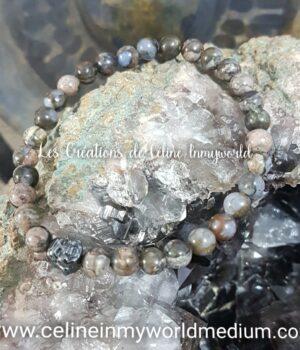 Bracelet pour le calme et la sérénité en Vulcanite avec Bouddha