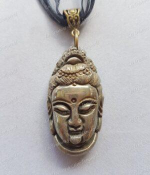 Pendentif tête de Bouddha en pyrite