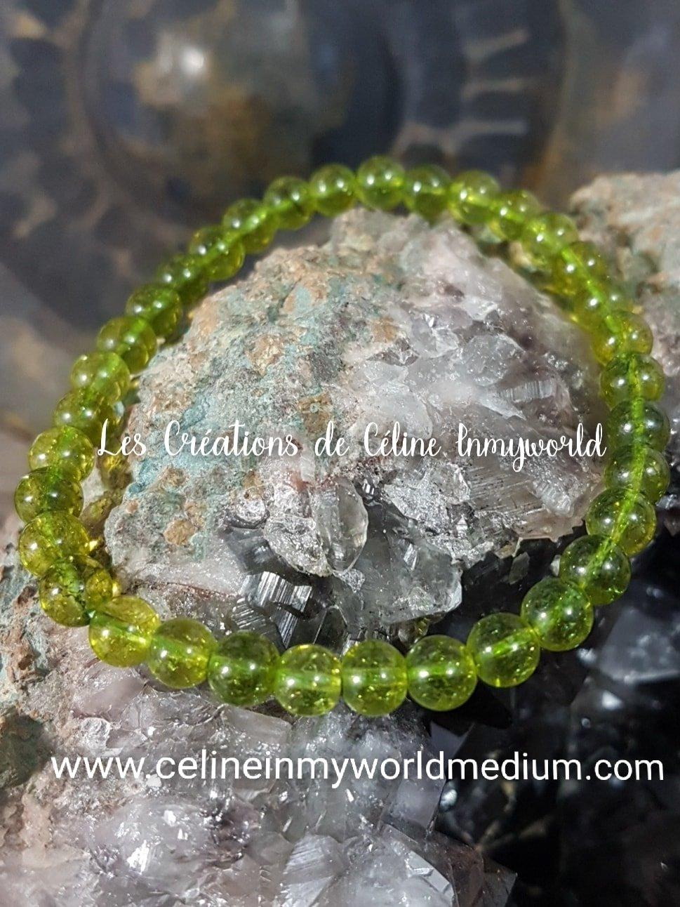 Bracelet en Olivine (Péridot) pour le chakra du cœur et se libérer de la colère