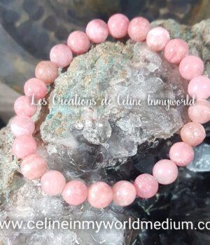 Bracelet en Rhodocrosite pour le chakra du coeur