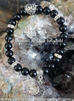 Bracelet en tourmaline noire pour l'ancrage et la protection