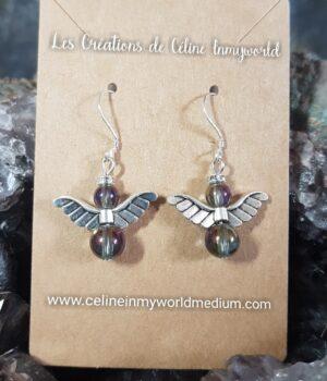 Boucles d'oreilles Angelots en perles de résine