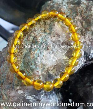 Bracelet pour la confiance en soi, en Ambre jaune