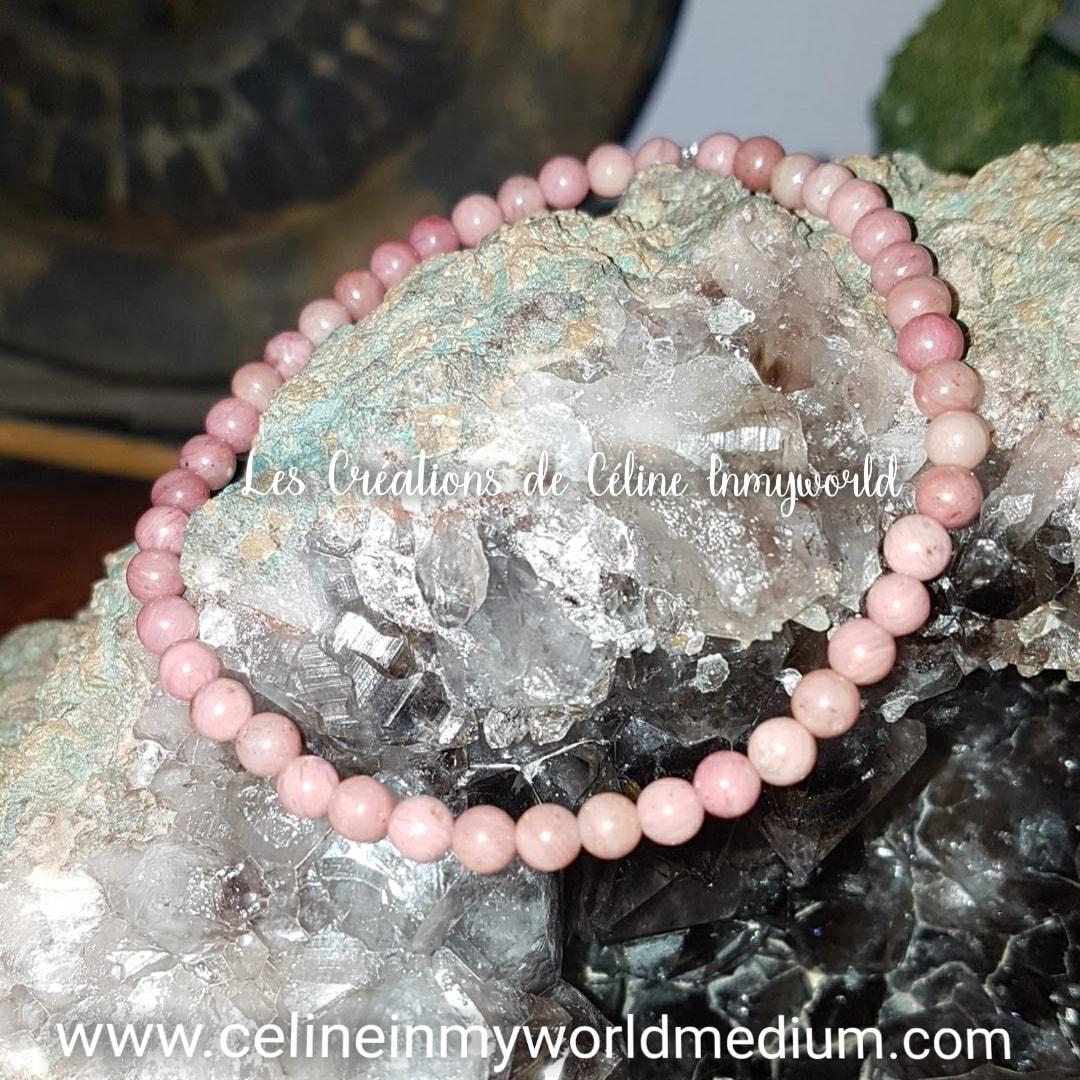 Bracelet pour aider à pardonner, en Rhodonite rose