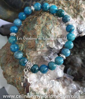 Bracelet pour la motivation, en Apatite bleue