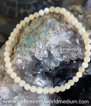 Bracelet pour la réalisation de soi, en Jade jaune (miel)