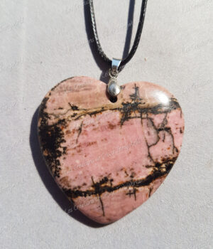 Pendentif Cœur en Rhodonite (3)